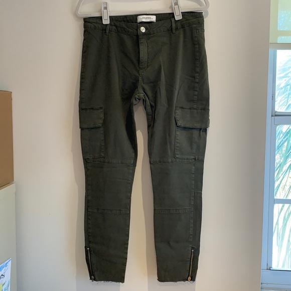 Zara Woman Premium Denim dark green jeans